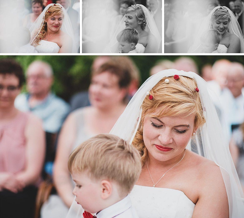 Braut mit Sohn