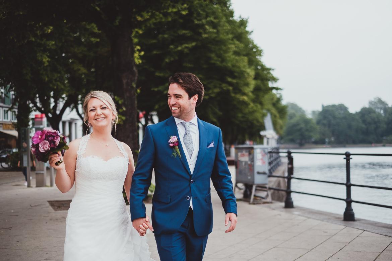 Brautpaar an der Alster