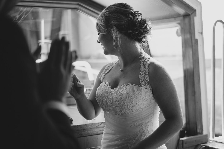 Braut an der Alster
