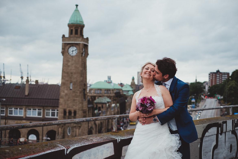 Brautpaar Landungsbrücken
